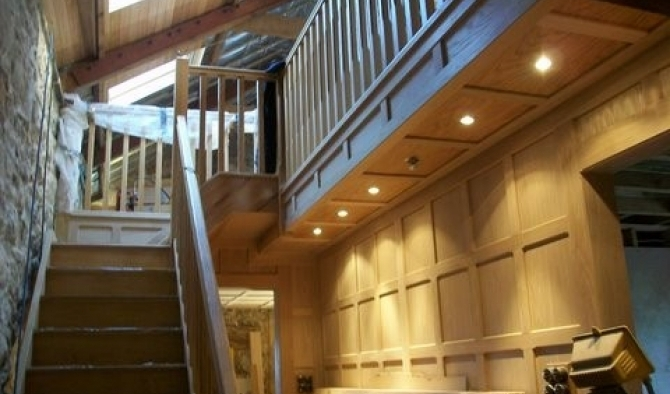 Oak Staircase with Oak cladding